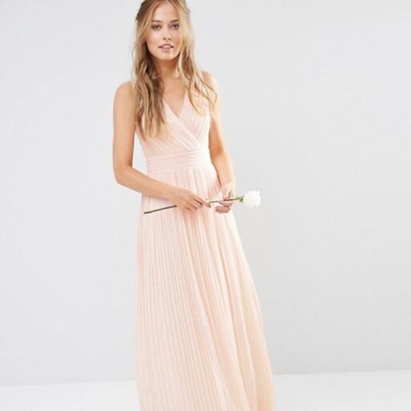 a44eb5f5f27 ASOS Dresses   Skirts - ASOS TFNC Pleated Wrap Maxi Dress